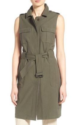 Olivia Palermo + Chelsea28 Long Military Vest $221.39 CAD